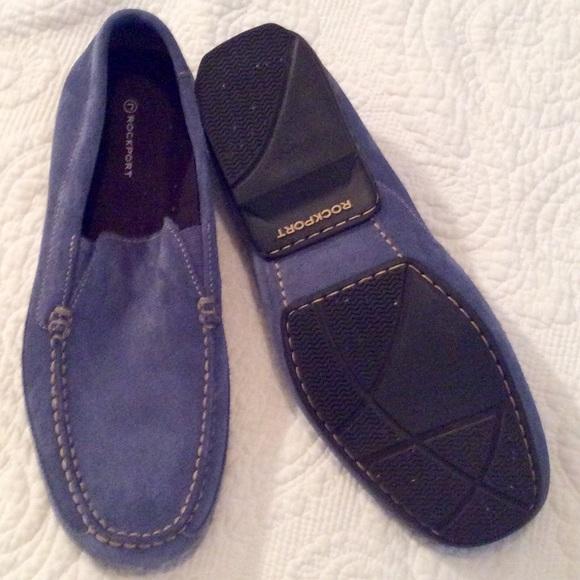 Rockport Shoes | Blue Suede | Poshmark